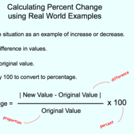Using Percent Change with Real World Examples