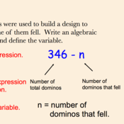 Defining Variables in Algebraic Expressions