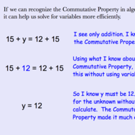 Using the Commutative Properties of Addition and Multiplication