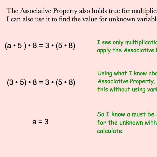 Using the Associative Properties of Addition and Multiplication