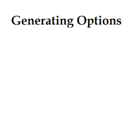Generating Options