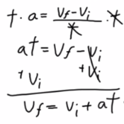 Representing Constant Acceleration Mathematically