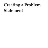 Creating a problem statement