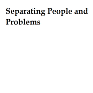 Separating People and Problems