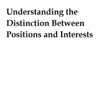 Understanding the distinction between positions and interests