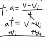 Determining Velocity Under Constant Acceleration