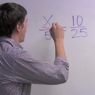 Solving Algebraic Proportions in 1 Variable