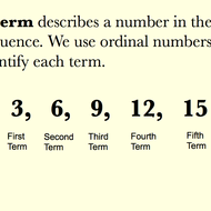 Terms in Sequences