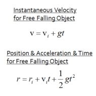 Acceleration Due to Gravity & Constant Acceleration