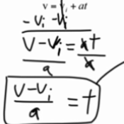 Constant Acceleration & Unknown Time