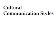Cultural Communication Styles