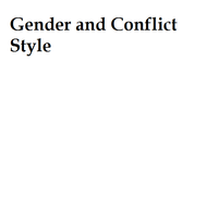 Gender and Conflict Style