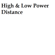 High & Low Power Distance