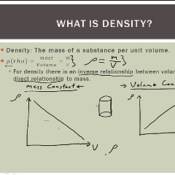 Solving Problems involving Density