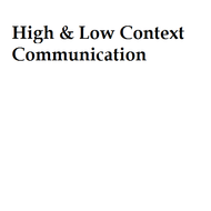 High & Low Context Communication