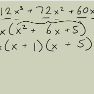 Factoring Algebraic Expressions with a Lead Coefficient of One