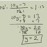 Solving Equations with Fractional Expressions