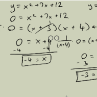 Solving Quadratic Equations using the Zero Property of Multiplication